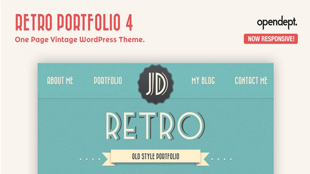 retro portfolio one page vintage wordpress theme v4 youtube