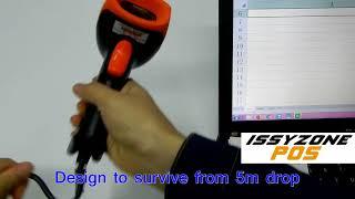 IPBS057 1D CCD Barcode Scanner hoe sluit excel