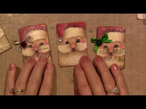 Painted Santa Pin Tutorial