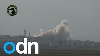SYRIA: Assad drops explosive barrels on civilians