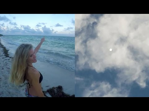 Strange Illuminated Spherical UFO Object Filmed Below Clouds over North Carolina's Coastline