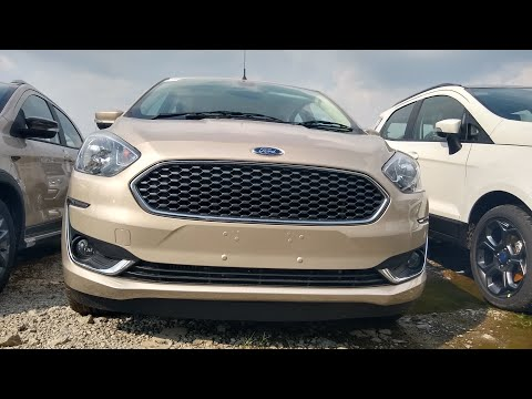 New Ford Aspire White Gold Color - First Walkaround Video !!