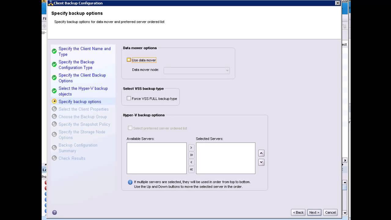 EMC NetWorker 8 1 Hyper-V Client Configuration Wizard