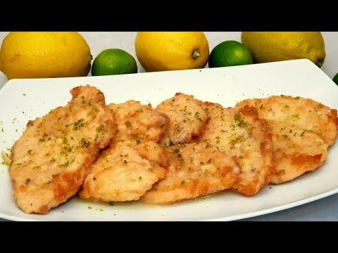 Pollo al limon, receta facil y rapida y encima, BARATA