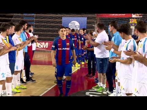 [HIGHLIGHTS] FUTSAL (Copa Catalunya): FC Barcelona Lassa – Catgas Santa Coloma (6-4)