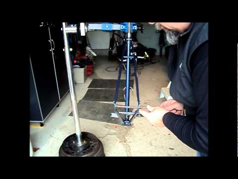 83 Nishiki bicycle V. Setting frame spacing and alignment..
