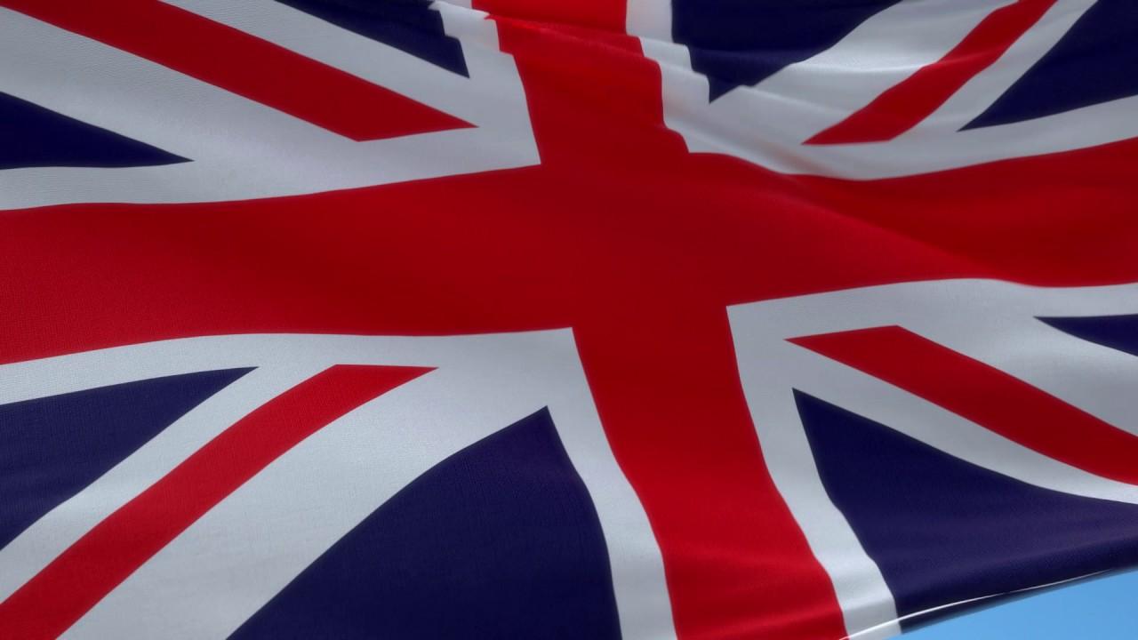 waving british flag