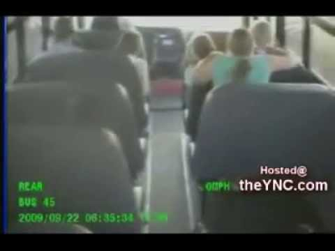 Fatal Tucson Arizona Bus And Car Crash [filmed Inside And Outside]