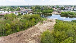 Ani śladu po tymczasowej przeprawie na rzece Narew