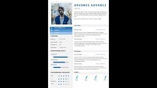 How to make a resume  CV with Ms Word free DOC+PDF Advanced cv