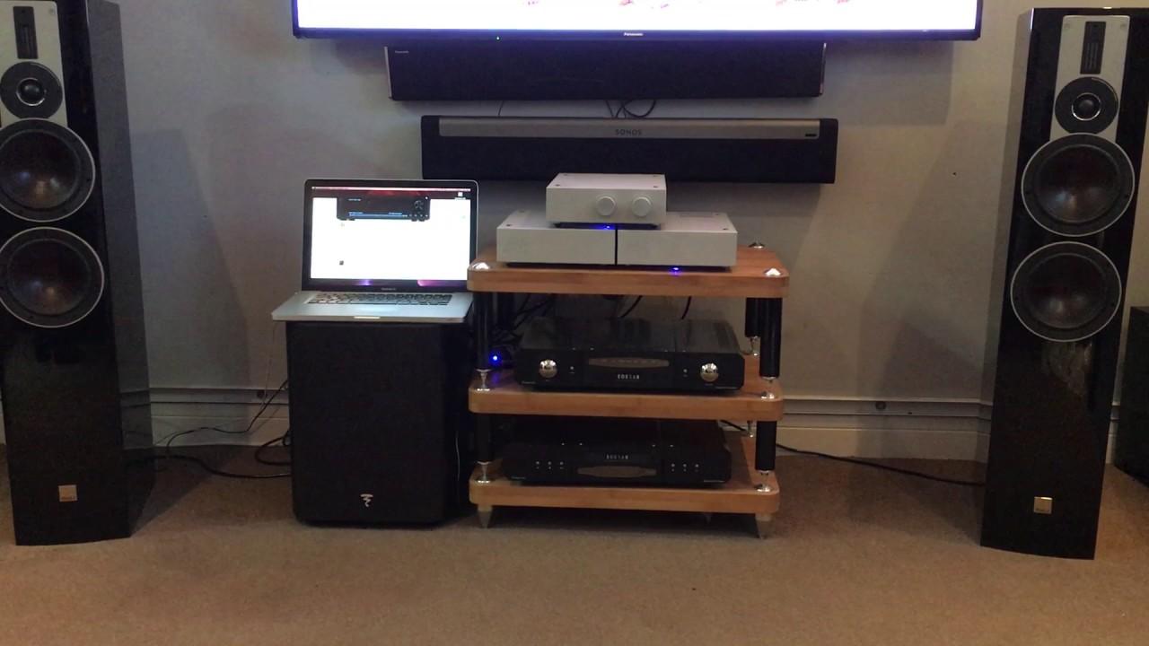 Acoustic imagery pre amp/D400M class d hypex monoblock + dali rubicon 6  speakers , audioquest cables