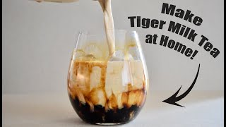How to Make TIGER BUBBLE TEA at Home!