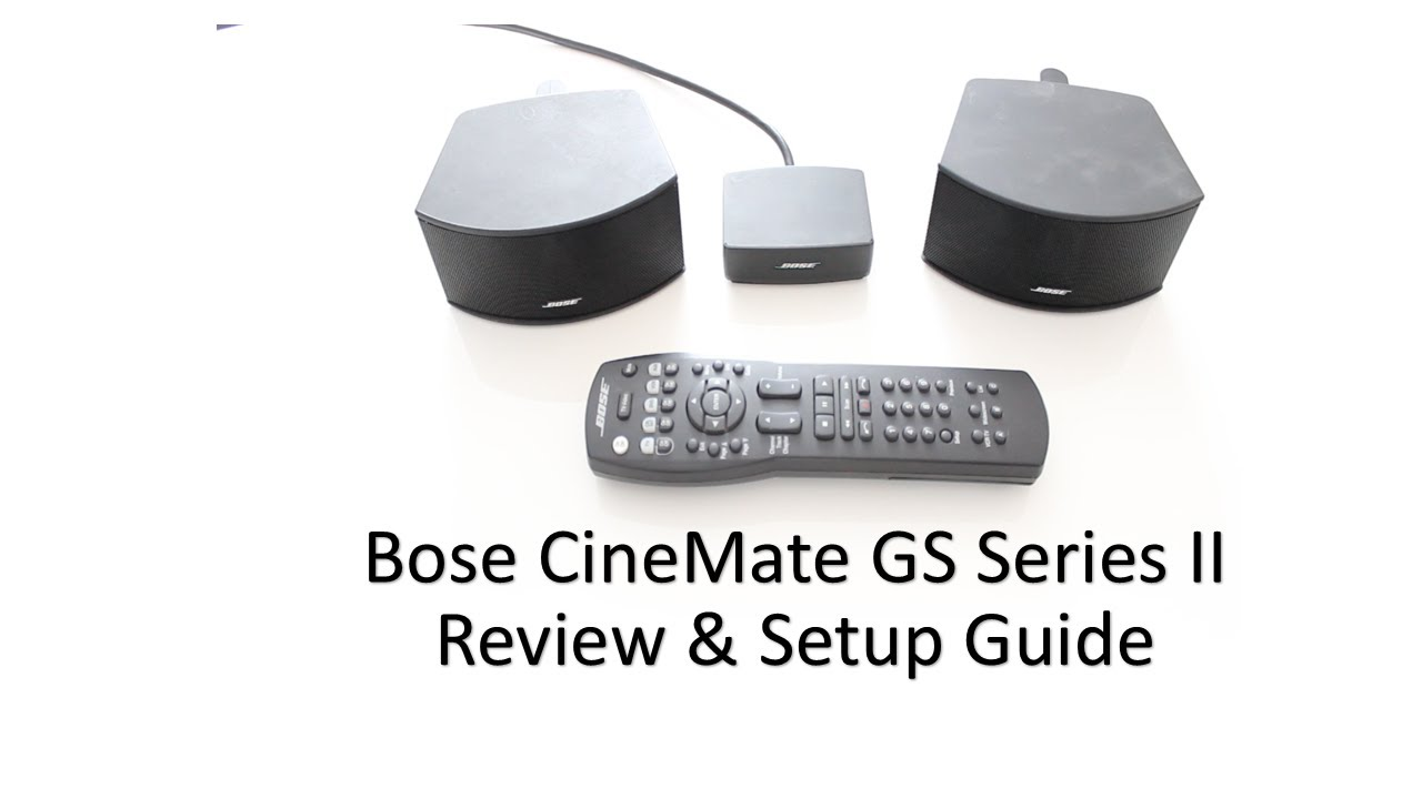 bose cinemate gs series ii speakers review setup guide 2013 rh youtube com Bose CineMate Series II Manual Bose CineMate GS Series II Problems