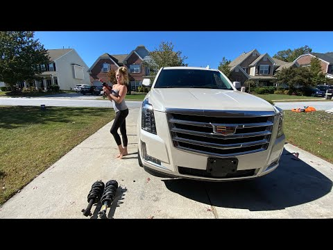 """DIY Strut Replacement"" 2015-2020 Cadillac Escalade ESV How to Suburban Yukon XL Tahoe"