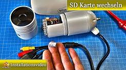 Überwachungskamera / SD Karte wechseln