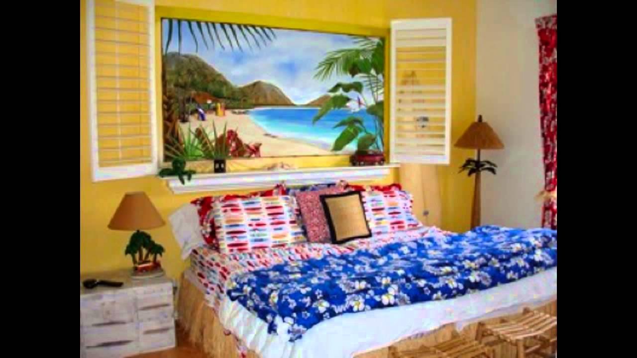Hawaiian bedroom decorating ideas - YouTube