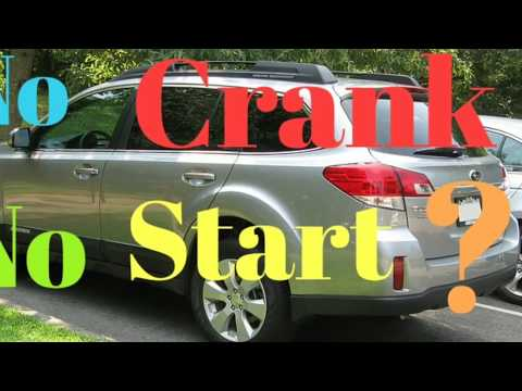 2014 SUBARU OUTBACK No Crank, No Start, FUSE? RELAY? STARTER? One Click...Fixed...