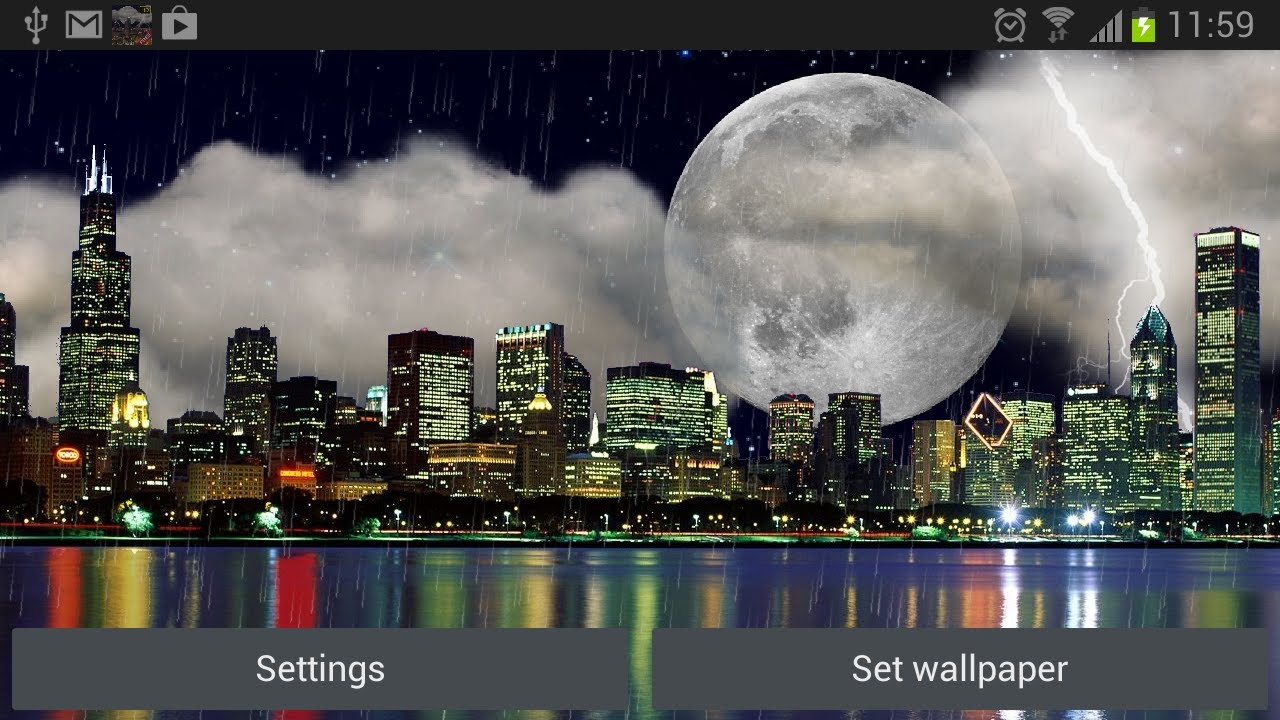 The real thunderstorm HD (Chicago) - Live Wallpaper - YouTube