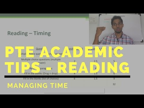 PTE Academic Reading Tips Time Management