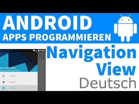 NavDrawer Layout designen mit dem Navigation View - Android Apps programmieren [Deutsch / German]