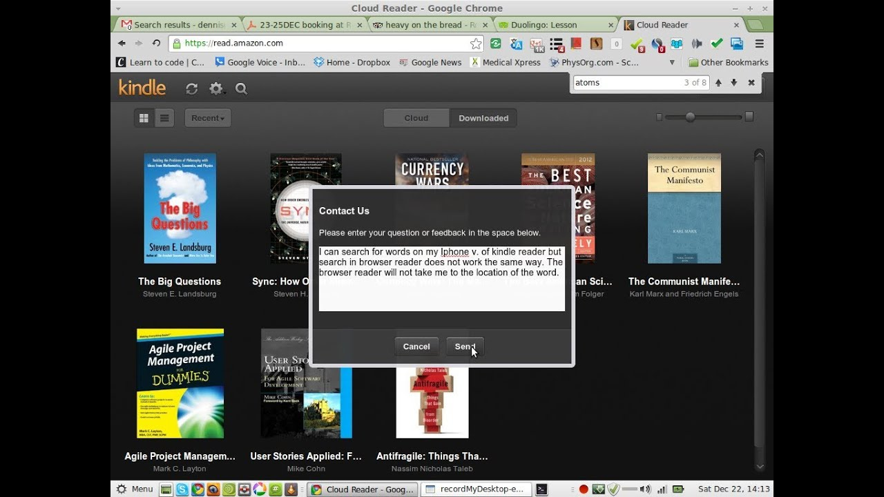 Review Of Kindle Cloud Reader On Google Chrome Search Fails On Browser Reader 22dec2012
