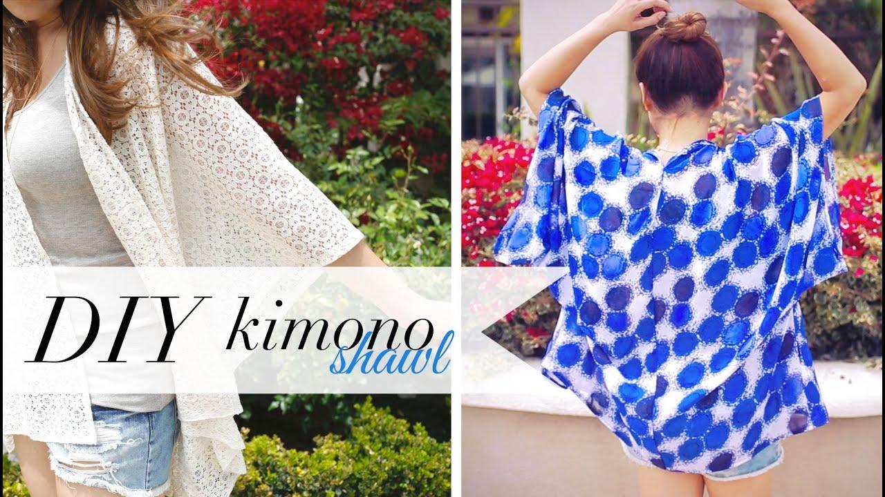 DIY Kimono Shawl - Music Festival & Beach Coverup | ANN LE ...