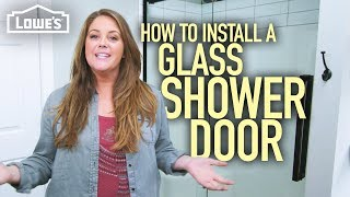 How to Install a Glass Shower Door (w/ Monica from The Weekender)