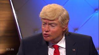 Christian Ehring im Gespräch mit Donald Trump (Thema: kritische Journalisten)