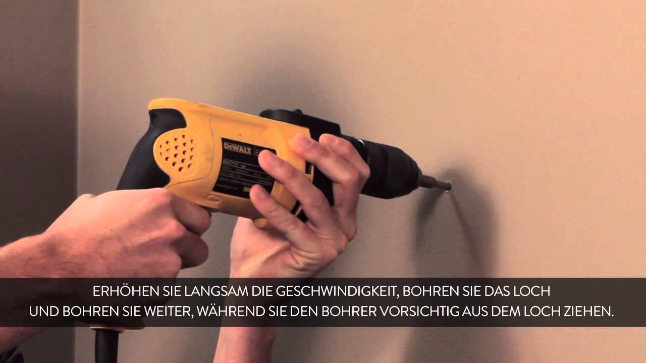 How To In Einer Wand Bohren Deutsch Youtube