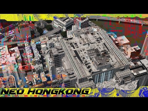 Cities Skylines : Cyberpunk City  Neo HongKong MEGA Building [ 5 ]