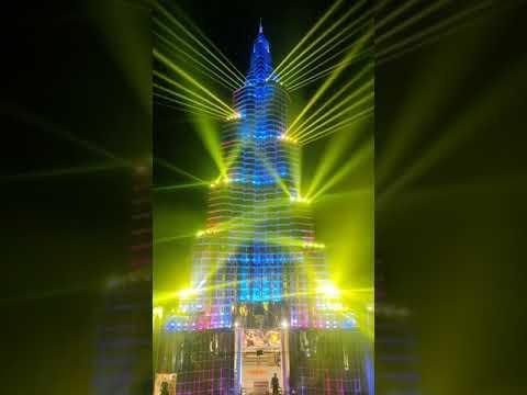 Amazing Light & Sound Show IN BurjKhalifa Durgapuja Pandal  Kolkata    ShreeBhumi   2021 DurgaPuja