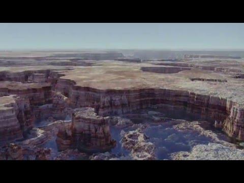3D Procedural displacement in Lightwave - canyon landscape