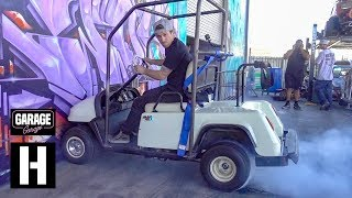 First Burnouts in the Sketch-tastic Snowmobile-Powered Golf Cart thumbnail