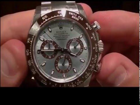 Rolex Cosmograph Daytona Ice Blue Dial Platinum Mens Watch 116506 Review