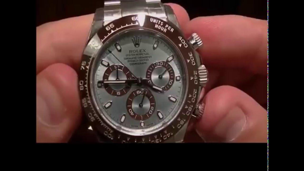 Rolex Daytona Platinum Blue Dial