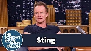 Sting Walks to Work in New York City