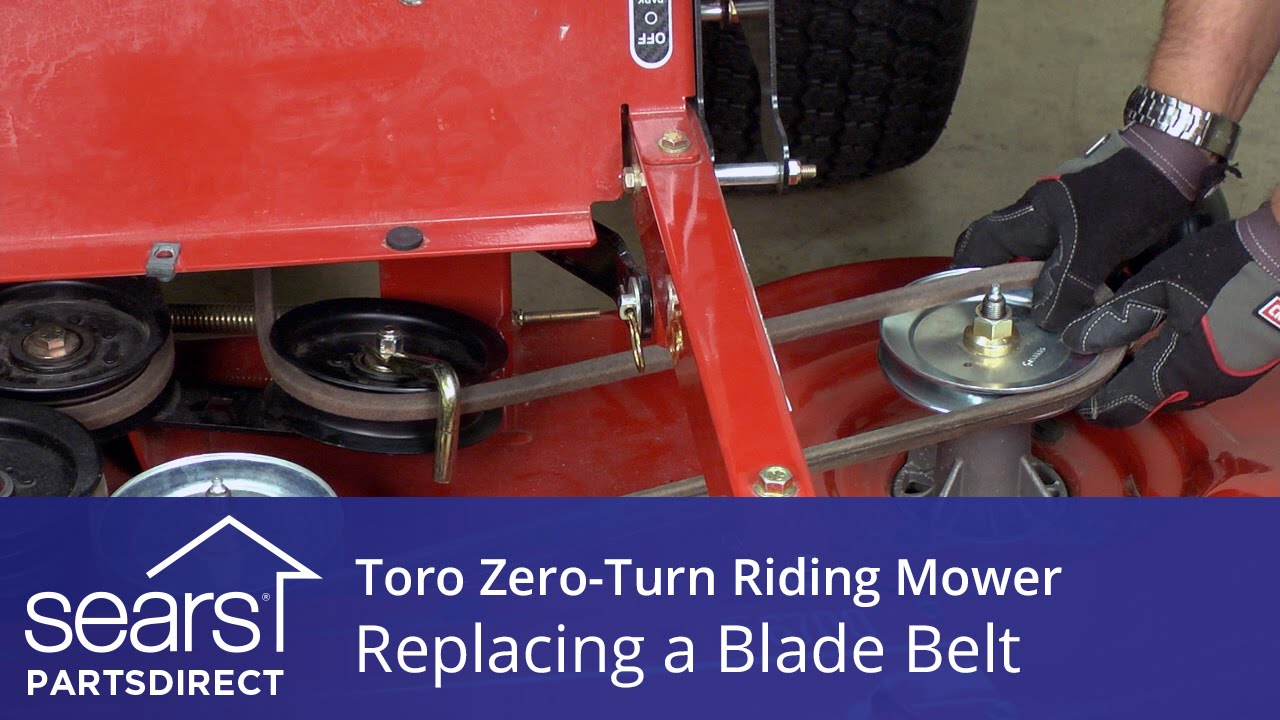 How to Replace a Toro Zero-Turn Riding Mower Blade Belt - YouTube