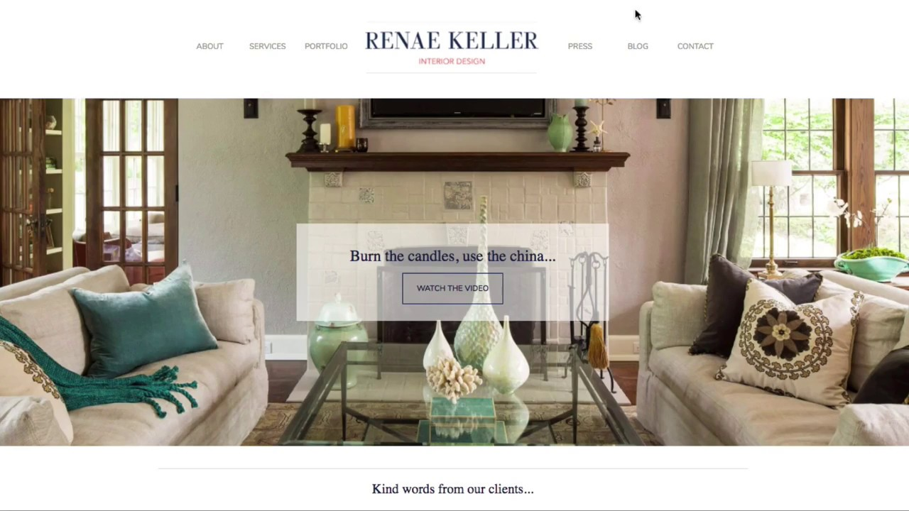 Renae Keller Interior Designer Website Design Project