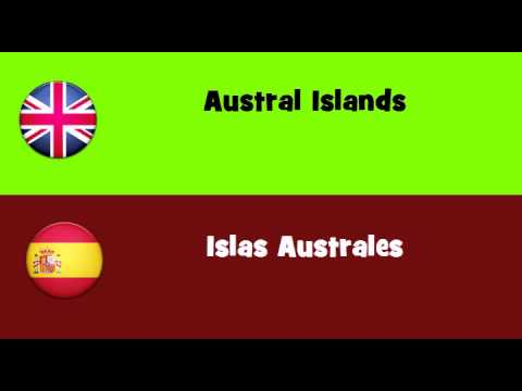 FROM ENGLISH TO SPANISH = Austral Islands