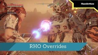 Horizon Zero Dawn - Overriding the Trampler, Shell-Walker, Snapmaw, Longleg, and Ravager (RHO)
