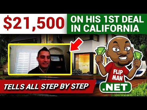 $21,500 Made On His 1st Deal Wholesaling a House in California With $10 EMD #flippinghouses