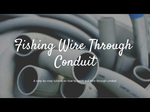 How To Fish A Wire Through Conduit - Wiring Basics - Pulling Wire Through Conduit