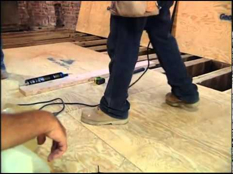 Installing the Subfloor