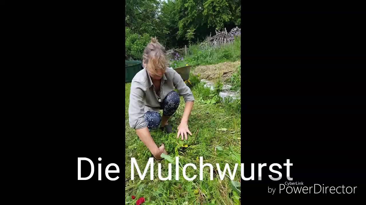 Mulchen Mit Der Mulchwurst Im Drei Zonen Garten Youtube