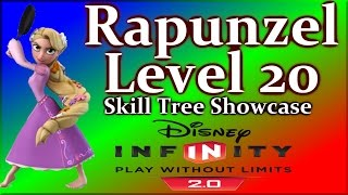 Rapunzel Level 20 Skill Tree Showcase - Disney Infinity 2.0 Tangled By DisneyToyCollector
