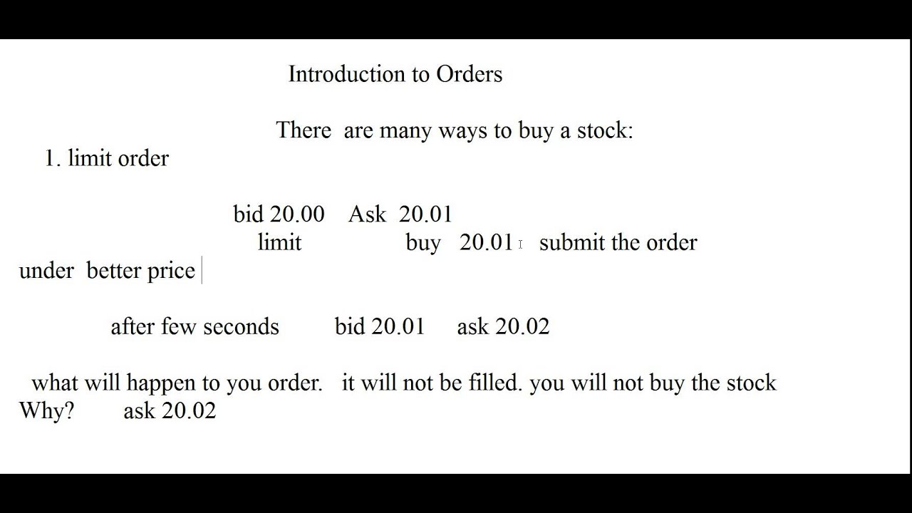 What Is A Limit Order? How To Use It?
