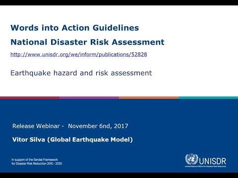 Earthquake hazard and risk assessment (Webinar)