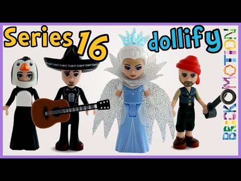 LEGO Series 16 minifigures turned into minidolls - dollify