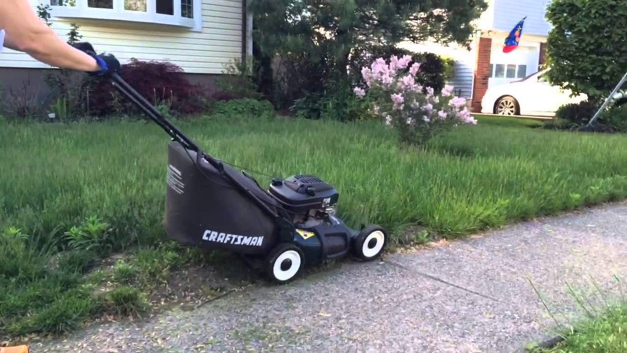 Old Craftsman Lawn Mowers : Year old craftsman lawn mower startup youtube