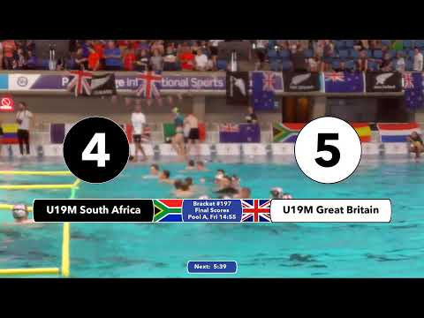Game 196( GBR vs RSA U19M) ENGLISH- 5th CMAS Underwater Hockey Age Group Worlds - Sheffield, UK